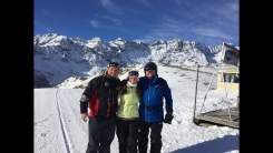 Skiing in Cervina,Italy with Pops and Luke!
