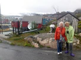 Nana and Mum in Narsarsuaq, Greenland